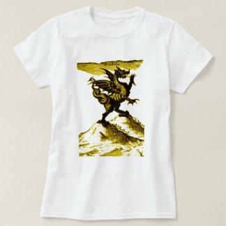 DIABOLUS the DRAGON vintage c.1682 in Gold Tshirt