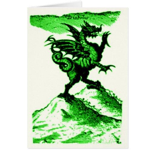 DIABOLUS the DRAGON vintage c.1682 in Green Card
