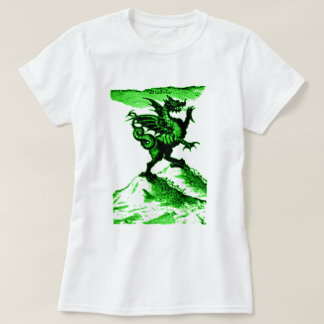 DIABOLUS the DRAGON vintage c.1682 in Green T-Shirt