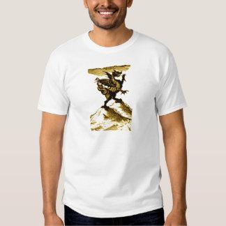 DIABOLUS the DRAGON vintage c.1682 in Sepia Tone Shirts