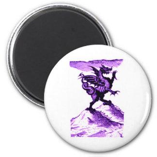 DIABOLUS the DRAGON vintage c.1682 in violet 2 Inch Round Magnet
