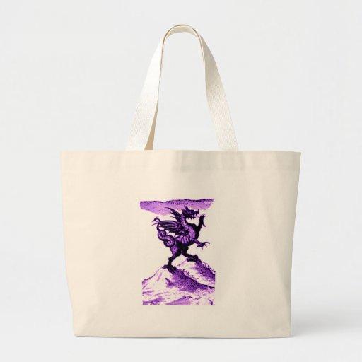 DIABOLUS the DRAGON vintage c.1682 in violet Bag