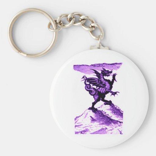 DIABOLUS the DRAGON vintage c.1682 in violet Keychain