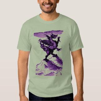 DIABOLUS the DRAGON vintage c.1682 in violet Tees