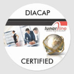 DIACAP CERTIFIED CLASSIC ROUND STICKER