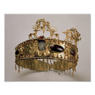 Diadem, found in the burial mound at Khoklach Poster