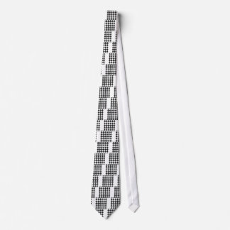 Diag a cuadros - blanco y gris oscuro corbata personalizada