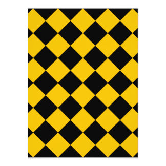 Diag Checkered - Black and Amber Card