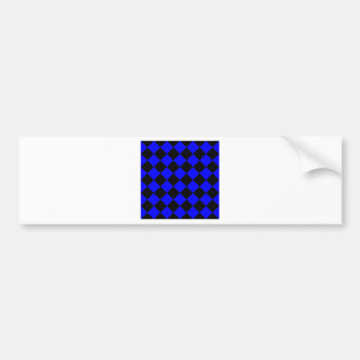 Diag Checkered - Black and Blue Bumper Sticker