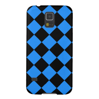 Diag Checkered - Black and Dodger Blue Case For Galaxy S5