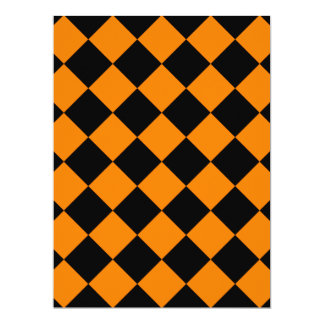 Diag Checkered - Black and Orange Card