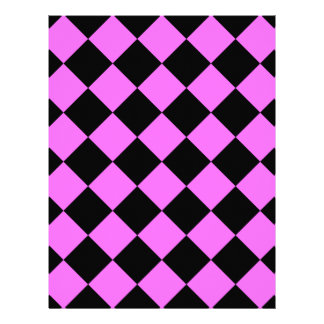 Diag Checkered - Black and Ultra Pink Letterhead