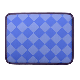 Diag Checkered - Blue and Light Blue Sleeve For MacBooks