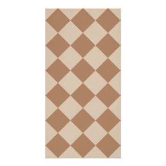 Diag Checkered - Brown and Light Brown Card