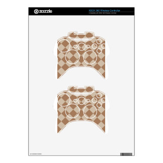 Diag Checkered - Brown and Light Brown Xbox 360 Controller Skins