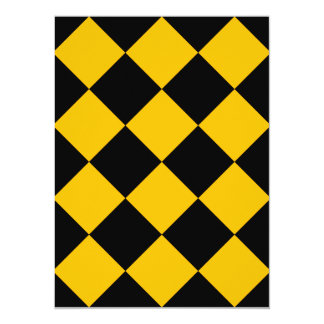Diag Checkered Large - Black and Amber Card
