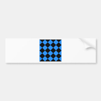 Diag Checkered Large - Black and Blue Bumper Sticker