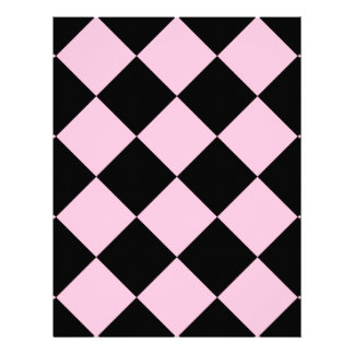 Diag Checkered Large - Black and Cotton Candy Letterhead