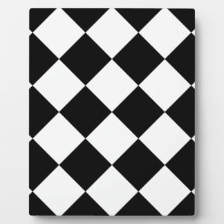 Diag Checkered Large - Black and Cream Plaque