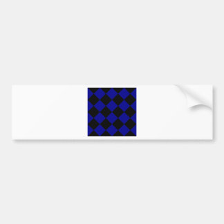 Diag Checkered Large - Black and Dark Blue Bumper Sticker