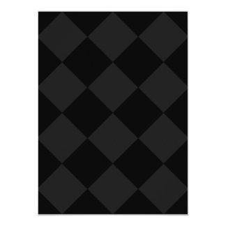 Diag Checkered Large - Black and Dark Gray Card