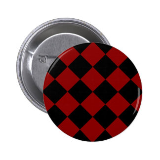 Diag Checkered Large - Black and Dark Red Button