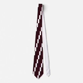 Diag Checkered Large - Black and Dark Scarlet Neck Tie
