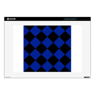 "Diag Checkered Large - Black and Imperial Blue Skin For 15"" Laptop"