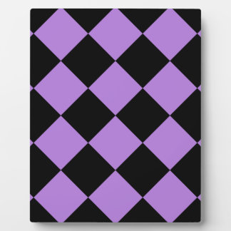 Diag Checkered Large - Black and Lavender Plaque