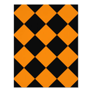 Diag Checkered Large - Black and Orange Card