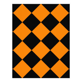 Diag Checkered Large - Black and Orange Letterhead