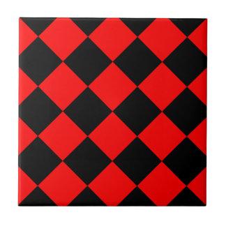 Red Checkers Ceramic Tiles Zazzle