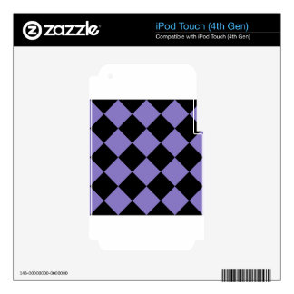 Diag Checkered Large - Black and Ube iPod Touch 4G Skins