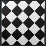 "Diag Checkered Large - Black and White Cloth Napkin<br><div class=""desc"">Together with stripes, polka dots, and chevrons, checkered designs are an evergreen pattern that doesn&#39;t lose its appeal over time. This cute white and black checkered design goes well on any kind of product. In order to present you with maximum choice, the same checkered design is available in 127 color...</div>"