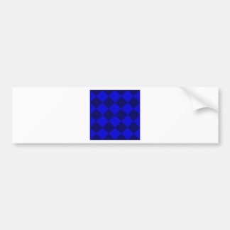 Diag Checkered Large - Blue and Dark Blue Bumper Sticker