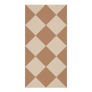 Diag Checkered Large - Brown and Light Brown Card