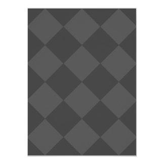 Diag Checkered Large - Gray and Dark Gray Card