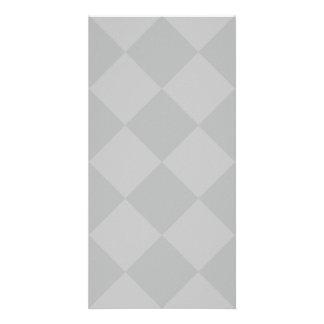 Diag Checkered Large - Gray and Light Gray Card