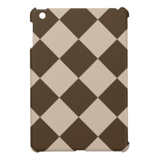 Diag Checkered Large - Light Brown and Dark Brown Case For The iPad Mini