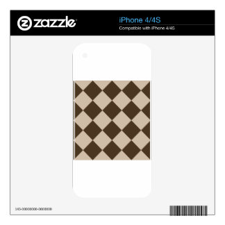 Diag Checkered Large - Light Brown and Dark Brown Skin For The iPhone 4