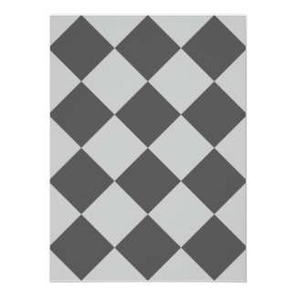 Diag Checkered Large - Light Gray and Dark Gray Card