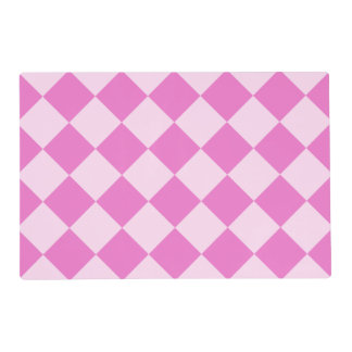 Diag Checkered Large - Light Pink and Dark Pink Placemat