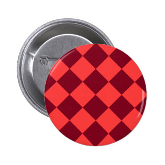 Diag Checkered Large - Light Red and Dark Red Button
