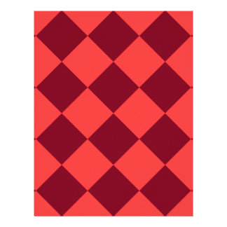 Diag Checkered Large - Light Red and Dark Red Letterhead