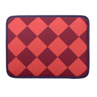 Diag Checkered Large - Light Red and Dark Red MacBook Pro Sleeve