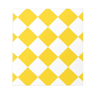Diag Checkered Large-Light Yellow and Dark Yellow Notepad