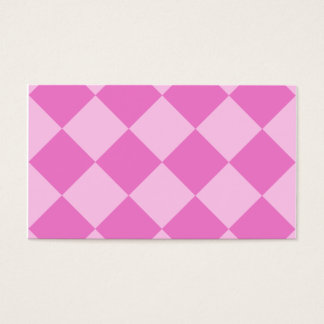Diag Checkered Large - Pink and Dark Pink Business Card