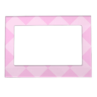 Diag Checkered Large - Pink and Light Pink Magnetic Photo Frame