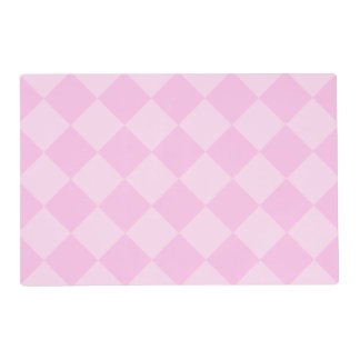Diag Checkered Large - Pink and Light Pink Placemat