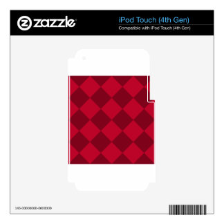 Diag Checkered Large - Red and Dark Red iPod Touch 4G Decals